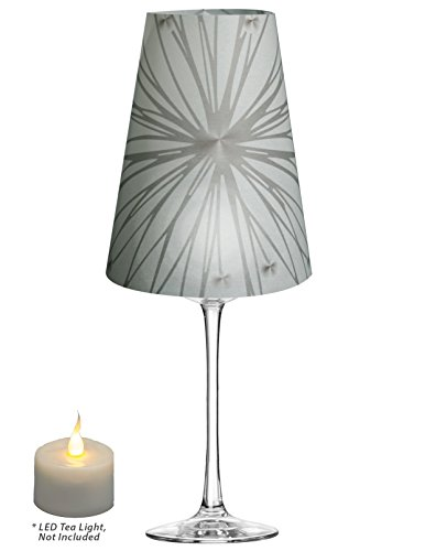 Royal Designs Star Silhouette, Vellum Wine Glass Shade Te...
