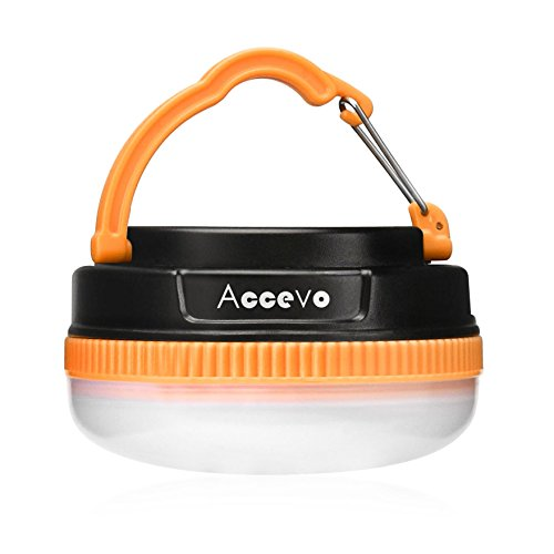 Portable Camping Light, Accevo Ultra Bright LED Camping Lanterns Lamp, Perfect for Backpacking, Hiking, Emergencies, Hurricanes and Any Emergencies
