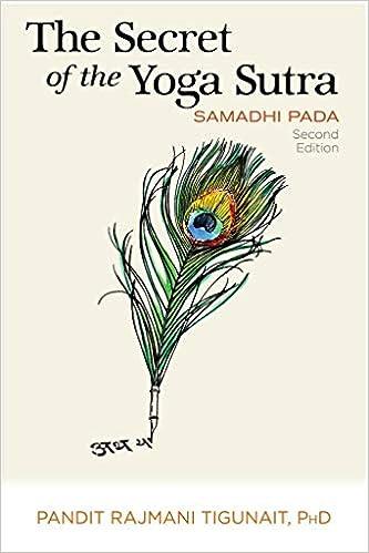 The Secret of the Yoga Sutra: Samadhi Pada: Pandit Rajmani ...