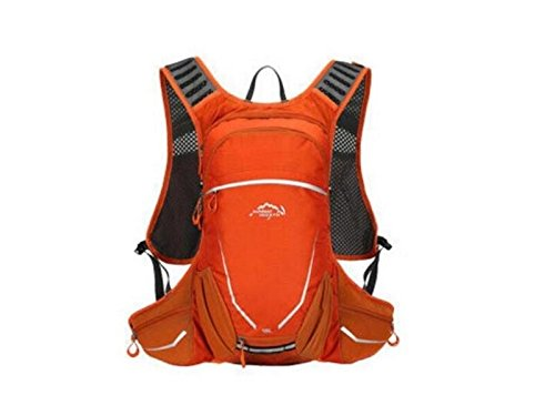 OVIIVO Bike 18L Hydration Bladder Backpack Adjustable Tactical Water Backpack with Water Bladder for Biking Cycling Travel Hiking (Orange) by OVIIVO