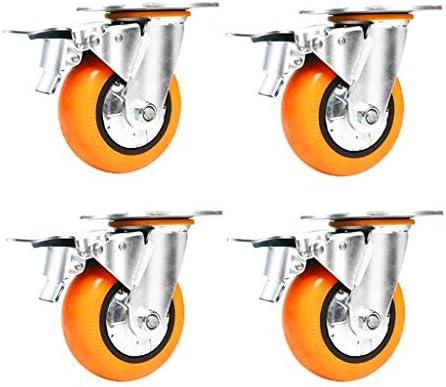 4インチヘビーデューティサイレントユニバーサルキャスター厚く強化された耐荷重性アップグレードキャスター(4パック)