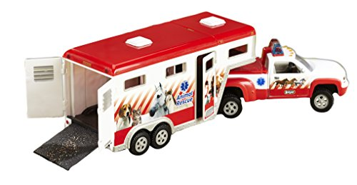 (Breyer Stablemates Animal Rescue Truck & Horse Trailer Vehicle (1: 32 Scale), 13.5
