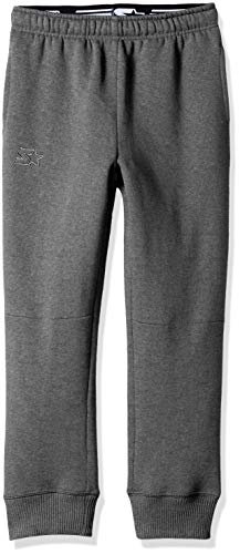 Starter Boys' Jogger Sweatpants with Pockets, Amazon Exclusive, Iron Grey Heather with Embroidered Logo, S (6/7)