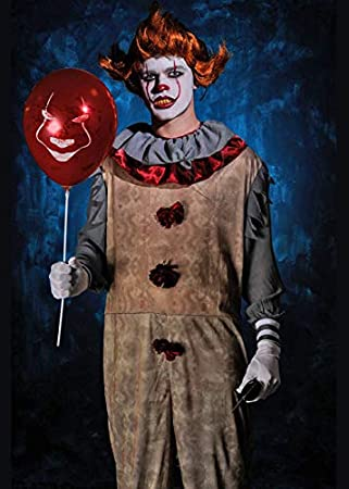 Magic Box Disfraz de Payaso Payaso con Peluca Estilo New Pennywise ...