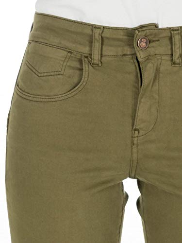 Capitán Denim Jeans Mujer Push-up Carly Verde Militar ...