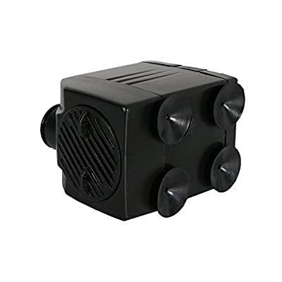 Sunnydaze Submersible Water Fountain Pump, Indoor or Outdoor Use for Small Fountains, Hydroponics, Aquaponics, 2 Nozzles, 120 Volts, 93 GPH