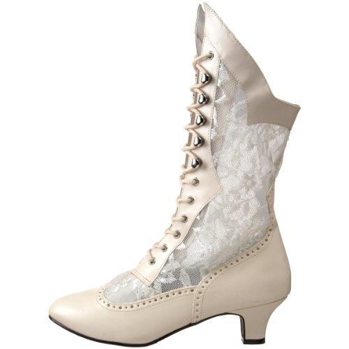 Dame115 b Bianco Stivali Da Pleaser Donna bianco ivory pu pdxUw
