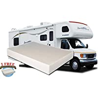 10-Inch Twin MEDIUM-FIRM Memory Foam Short Mattress for RV, Camper - Made in the USA - 1 FREE Pillow