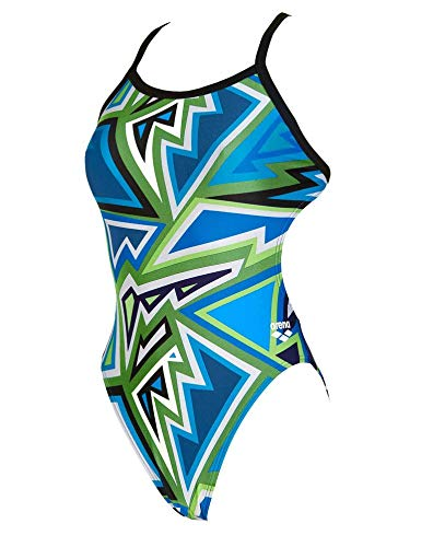 arena Women's Tulum Challenge Back One Piece Swimsuit, Leaf, Size ()