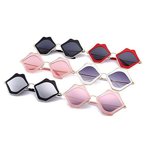 Soleil FOONEE Frame Lunette Clear white de Frame Pink Femme Black 6aqEOaWrw