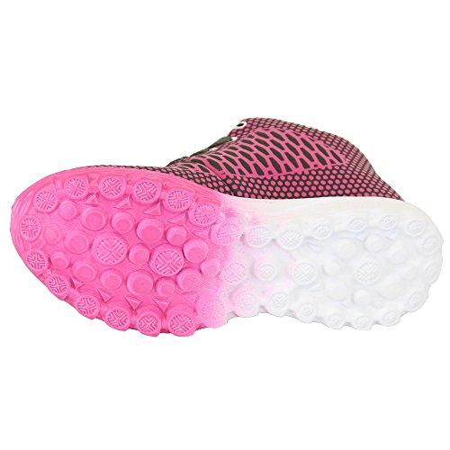 Jungen Mädchen Kinder Schnürer Kleinkinder Kinder Turnschuhe Schuhe Pink/Grau - L15083