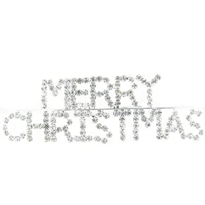 Top Winter White Merry Christmas Holiday Fashion Rhinestone Word Ugly Sweater Brooch Pin with Clear Crystals hot sale