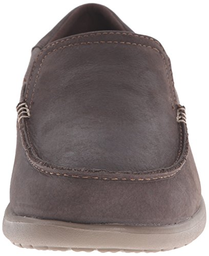 para Hombre Marrón Crocs Leather Men Luxe Cruz Walnut Espresso Náuticos Santa 2 z0Cqzw8