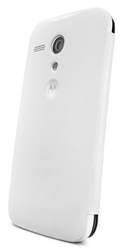 (Motorola Moto G Flip Shell Case - Retail Packaging - White (1st Generation Only))