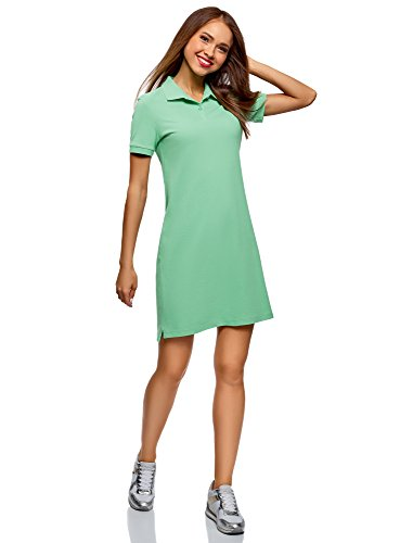 Polo Tissu Robe Piqu Vert 6500n Ultra oodji en Femme gnWtxOT