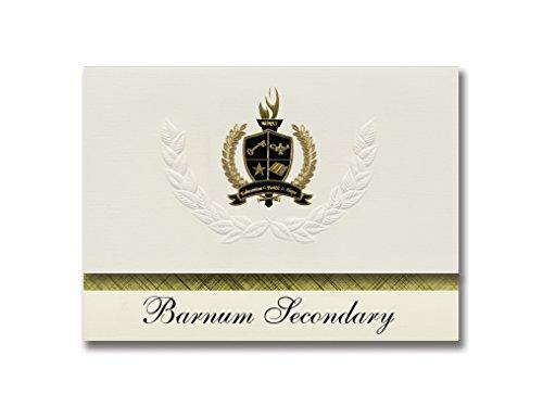 signature announcements Barnum-Secundaria (Barnum-, anuncio de MN) de graduación, Paquete de 25, con lámina de oro...