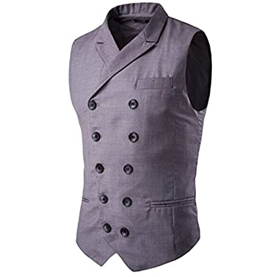 ainr Men Business Double Breasted Casual Sleeveless Suit Vest supplier