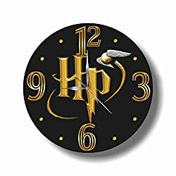 Harry Potter - Logo 11.8'' Handmade Wall Clock - Get Unique décor for Home or Office – Best Gift Ideas for Kids, Friends, Parents and Your Soul Mates