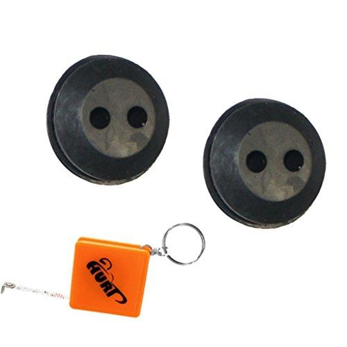 HURI 2 Gummitülle Dichtung Benzintank Gummistopfen passend für ATIKA HB 60 Benzin Heckenschere