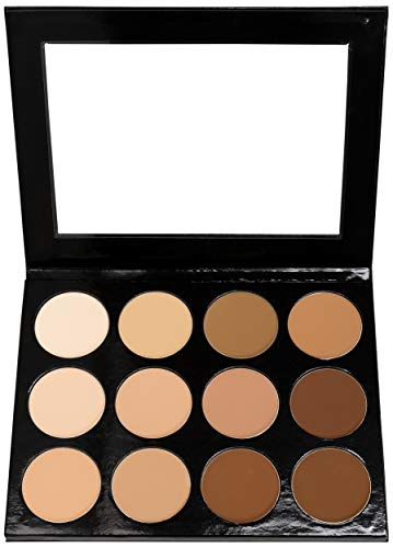 Mehron Makeup Celebré Pro-HD Pressed Powder Foundation, Contour & Highlight Palette 12 Shades