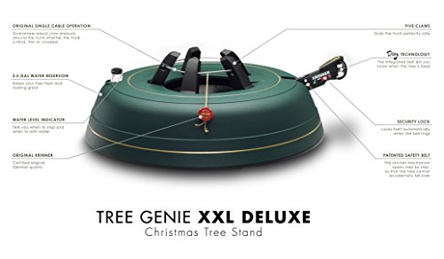 Krinner Tree Genie Tree Genie XXL Deluxe Christmas Tree Stand, Green 70
