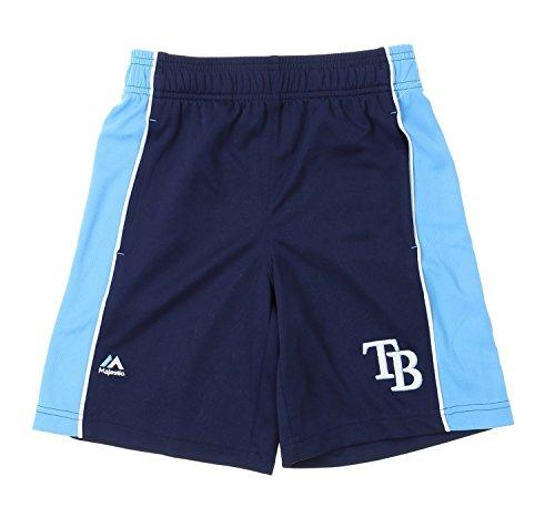 Majestic MLB Tampa Bay Rays Big Boys Youth Baseball Classic Shorts, Navy (X-Large (18-.