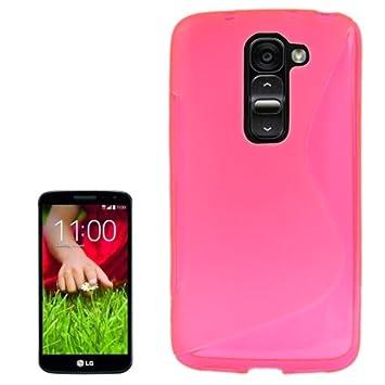 LG G2 Mini Carcasa Funda TPU Magenta Efecto esmerilado Sline ...