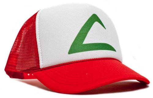 Pokemon Ash Ketchum Unisex-adult Trucker Hat -One-size Redl/white