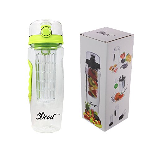 DCOU Fruit Infuser Water Bottle with removable infuser basket infusion water bottle homemade flavored fruit beverages