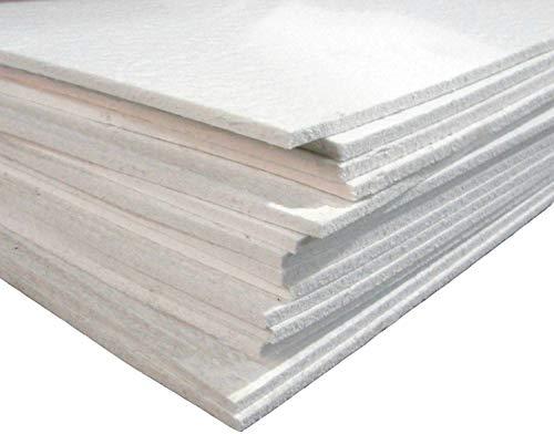 12x12 Semi Soft FiberFrax Fiber Kiln Paper 1/8
