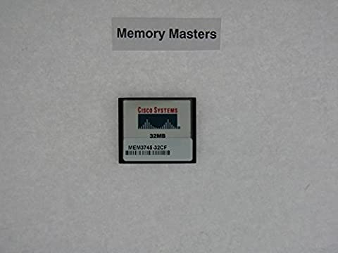 MEM3745-32CF 32MB Approved Compact Flash upgrade for Cisco 3745 Routers(MemoryMasters) - 32 Mb Approved Memory