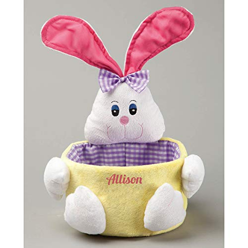 Personalized Bunny Easter Basket - Boy or Girl - 11