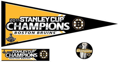 Boston Bruins Stanley Cup Champions Pennant + Fan Pack