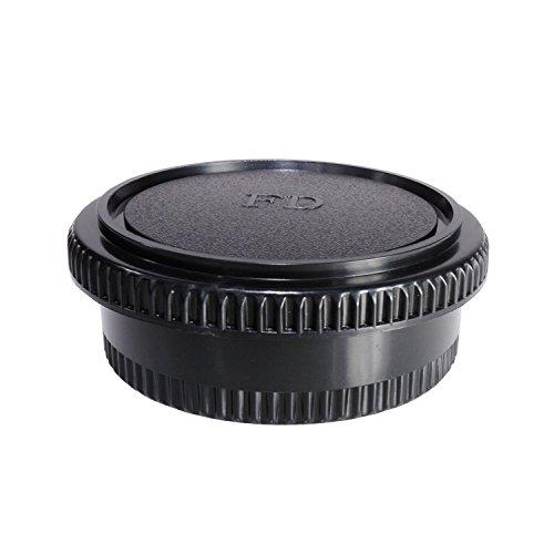 CamDesign Rear Lens Cap & Body Cap Set f Canon FD lens fits FL original FD & new FD lenses w/ camera Canon F-1,FTb,FTbn,EF,TLb,TX,F-1n,AE-1,AT-1,A-1,AV-1,New F-1,AE-1 Program,AL-1,T50,T70,T80,T90,T60
