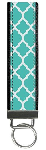 Snaptotes Teal Moroccan Design Monogram Wristlet Keyfob Keychain,Letter K by Snaptotes (Image #1)