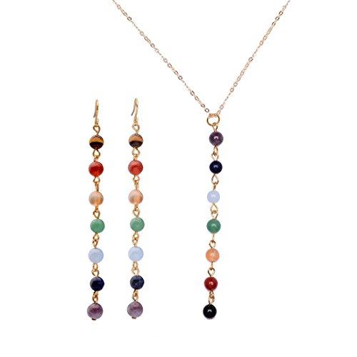 Healing Crystal Earrings Necklace Gemstone