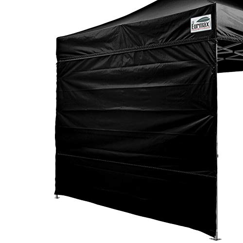 Eurmax Two Sidewalls 10×10 Pop up Canopy, Removable Zipper End (2 Walls Only) Black For Sale