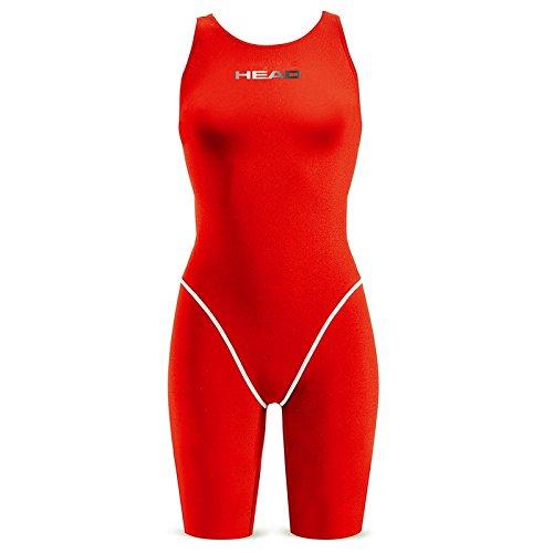 Head SWS Racing Knee - Bañador para mujer Rojo (RD)