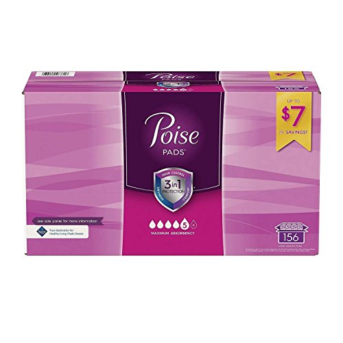 (Poise Incontinence Pads, Long, Maximum Absorbency (156 ct.))