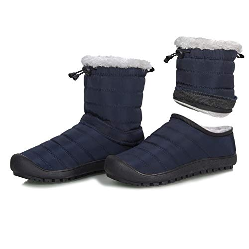 IceUnicorn Womens Mens Snow Boots Warm Winter Booties Faux