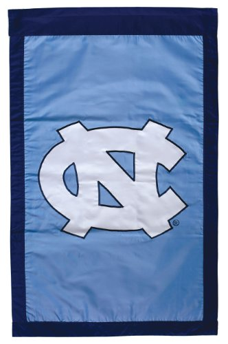 NCAA North Carolina Tar Heels Double Sided 29 x 44-Inch Applique Flag