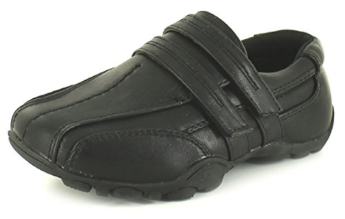 Jungen/Kinder Schwarz, 2 mit Klettverschluss in sportlicher Sole. Schuh, Schwarz, Größen: 40-46 (EU)/6-12 (UK)