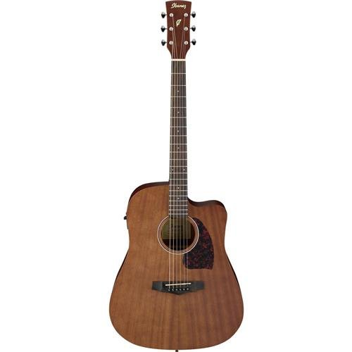 Ibanez Performance Series PF12MHCEOPN Mahogany Dreadnought Acoustic-Electric Guitar Satin Natural ()