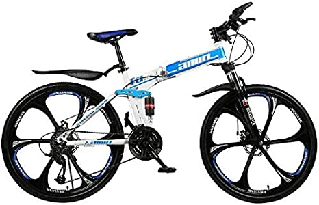 Miwaimao Bicicleta de montaña para hombre, 26 pulgadas, 21 velocidades, bicicleta de montaña para adultos, color azul, tamaño talla única: Amazon.es: Hogar