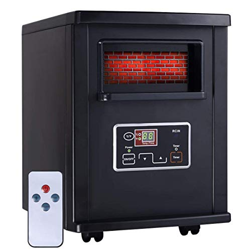 Giantex 1000W Fireplace Metal Electric Quartz Tube Heater Fire Flame Stove Adjustaable Giantex Infrared Heaters