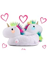 Light-Up Unicorn Slippers for Adults & Kids – HUGE VALENTINE'S DAY SALE! Twinkle Tootsies Color-Changing LED Lights with Vibrant Rainbow Mane and Super Comfy Cushioning to Keep You Warm All Winter Long