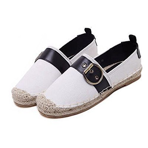 Mocassini Penny Classic Da Donna Fibbia Mocassino Flat Toe Slip-on Casual Dress Mocassino Oxford Shoes Bianco