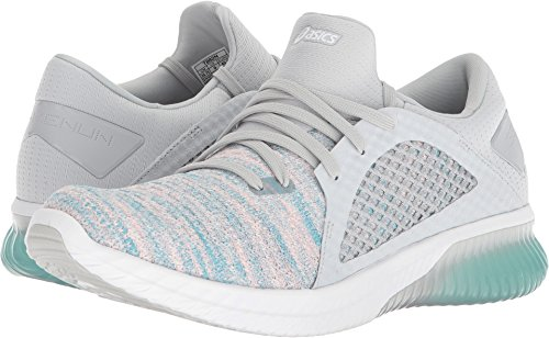 ASICS Womens Gel-Kenun Knit Sneaker, Aruba Blue/Glacier Grey/White, Size 5.5
