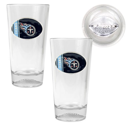 NFL Tennessee Titans Two Piece Pint Ale Glass Set with (Glass Nhl Mug)