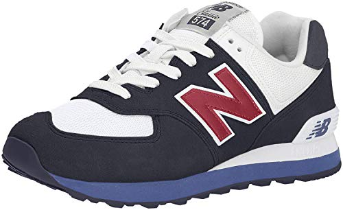 New Balance Men's 574v2 Sneaker, Navy/Chili Pepper, 11.5 D US